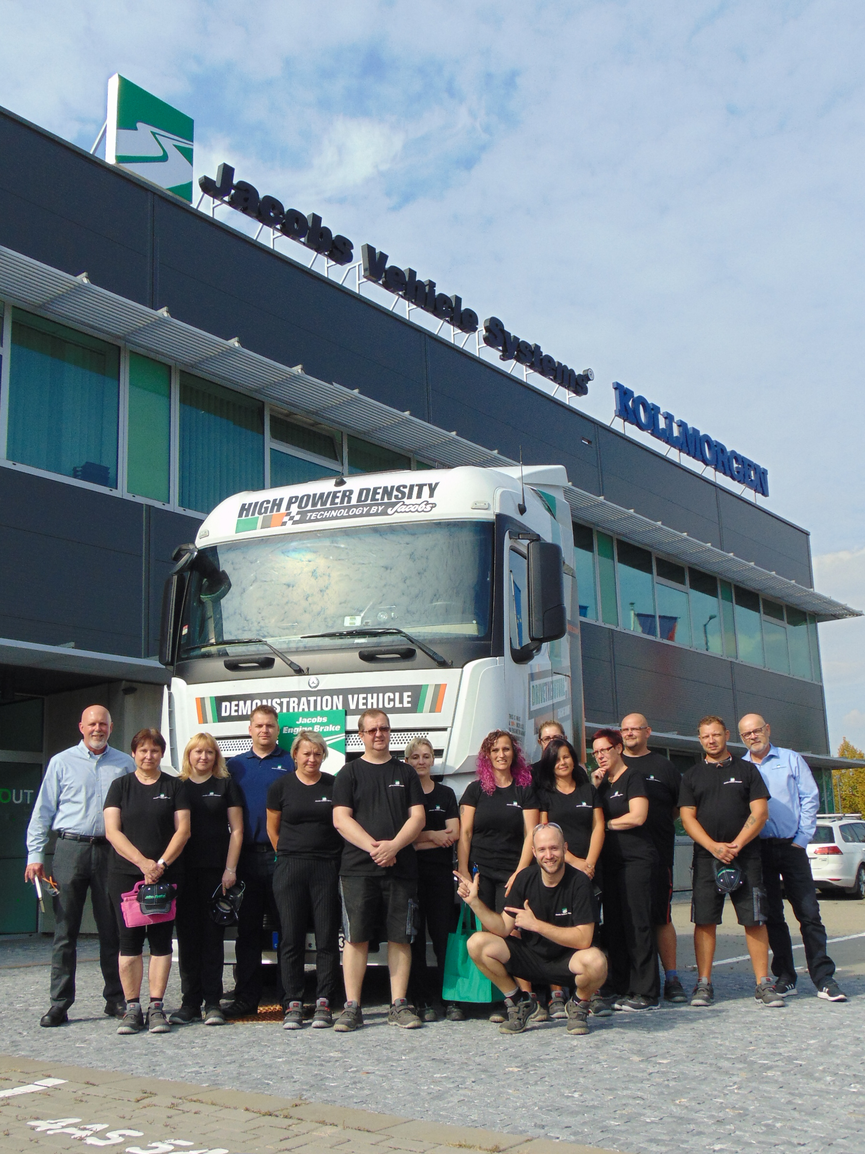 Jacobs Brno team outside the new Jacobs facility