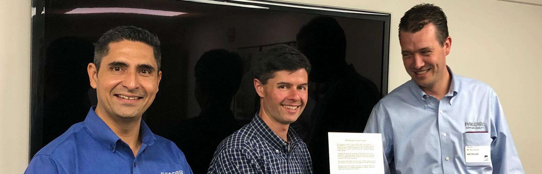 Jacobs荣获PACCAR颁发的10 PPM奖