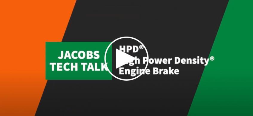 Jacobs Tech Talk视频:高功率密度发动机制动器